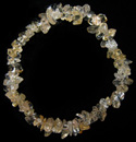 Chip Bead Stretchy Bracelet (Citrine)