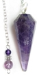 Amethyst Pendulum with Amethyst Bead Top