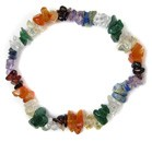 Chip Bead Stretchy Bracelet (Multi)