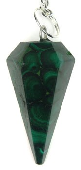 Natural Malachite Pendulum (Faceted)