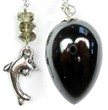 Hematite Pendulum with Dolphin Top