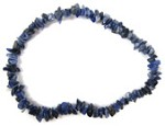 Chip Bead Stretchy Bracelet (Sodalite)