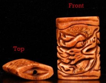 Hand Carved Bone Chinese Dragon (pkg of 1)