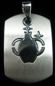 Aquarius - Laser Cut Stainless Steel Pendant