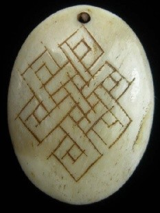 Bone Bead - Celtic Knot - 49x32mm