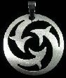 Laser Design #6 - Laser Cut Stainless Steel Pendant
