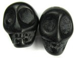 Mini Black Skull Bead (Pair)