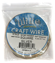 Soft Tempered Craft Wire (18G Square Silver)