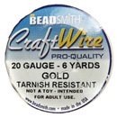 Craft Wire (20 Gauge Gold)