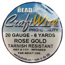 Craft Wire (20G Rose Gold)
