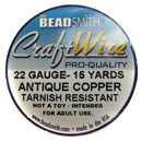 Craft Wire (22G Antique Copper)