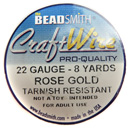 Craft Wire (22G Rose Gold)
