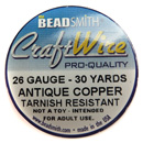 Craft Wire (26G Antique Copper)