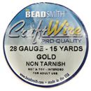 Craft Wire (28 Gauge Gold)