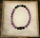 Amethyst and Shungite Protection Bracelet [Handcrafted] [StyleB]