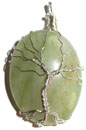 Wire Wrap Tree of Life Pendant (Aventurine)