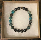 Shungite and Azurite Bracelet [Handcrafted]