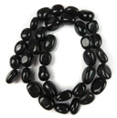 Bead Strands (Black Agate)