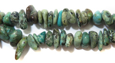 Gemstone Bead Strand (African Turquoise Chips)