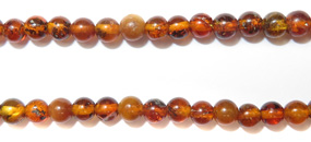 Gemstone Bead Strand (Amber/3mm)