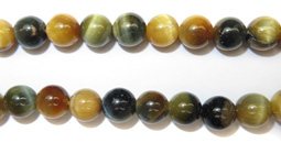 Gemstone Bead Strand (Golden Blue Tiger's Eye)