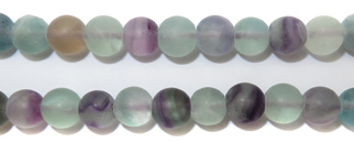 Gemstone Bead Strand (Matte Fluorite/8MM)