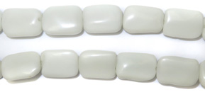 Gemstone Bead Strand (White Agate Rectangles/13MM)