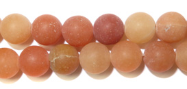 Gemstone Bead Strand (Red Aventurine/8MM)