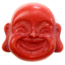 Buddha Bead (Resin/Red)