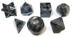 7 Piece Sacred Geometry Kit (Larvikite)
