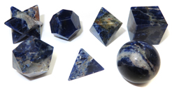 7 Piece Sacred Geometry Kit (Sodalite)