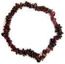 Chip Bead Stretchy Bracelet (Garnet)