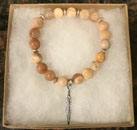 Blissful by Melissa Bracelet (Sunstone and Feather Charm)