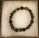 Blissful by Melissa Bracelet (Tiger Eye with Buddha Charm)