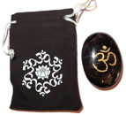 Printed Bag & Etched Gemstone (Garnet OM)