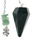 Green Agate Good Luck Pendulum