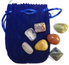 Chakra Set with Velveteen Pouch (Blue)