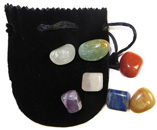 Chakra Set with Velveteen Pouch (Black)
