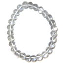 Stretchy Gemstone Bead Bracelet (Clear Quartz)