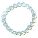 Stretchy Gemstone Bead Bracelet (Opalite)