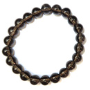 Stretchy Gemstone Bead Bracelet (Smokey Quartz)