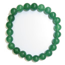 Stretchy Gemstone Bead Bracelet (Green Aventurine)