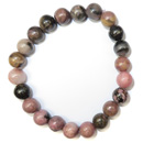 Stretchy Gemstone Bead Bracelet (Rhodonite)