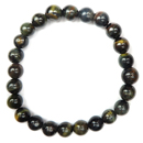 Stretchy Gemstone Bead Bracelet (Blue Tiger Eye)