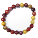 Stretchy Gemstone Bead Bracelet (Mookite)