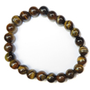 Stretchy Gemstone Bead Bracelet (Tiger Eye)