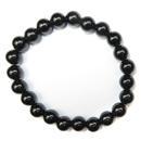 Stretchy Gemstone Bead Bracelet (Black Onyx)