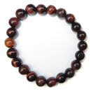 Stretchy Gemstone Bead Bracelet (Red Tiger Eye)