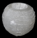 Selenite (Round Candle Holder)