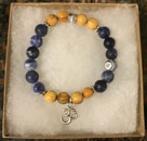 Sodalite, Palo Santo &  with OM Charm [Handcrafted]